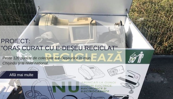 Oraș curat cu e-Deșeu reciclat